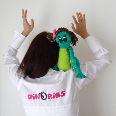 Mascotte livre jeunesse Dinoribs
