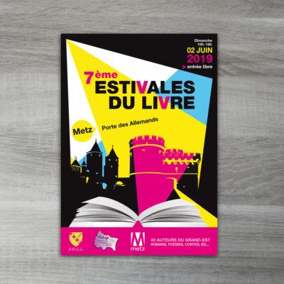 Affiche et Flyer Estivales du livre 2019 à Metz