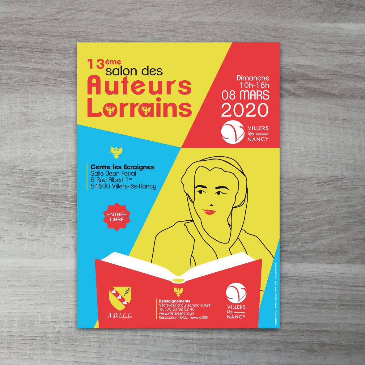 affiche salon des auteurs lorrains de villers-les-nancy 2020