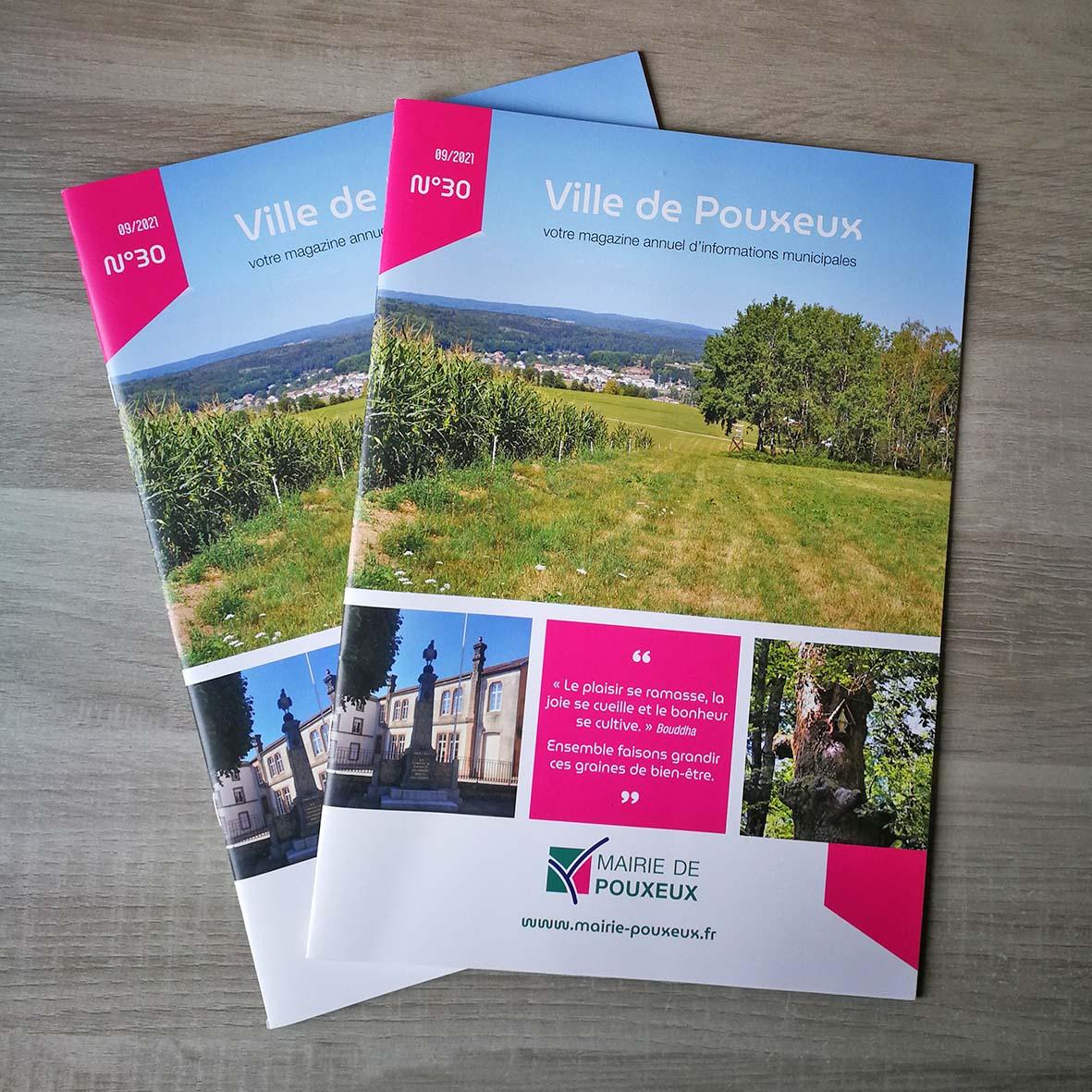 Magazine municipal ville de Pouxeux